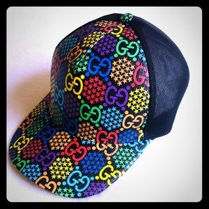 🌈😍New Gucci Psychedelic GG Baseball Hat Cap
